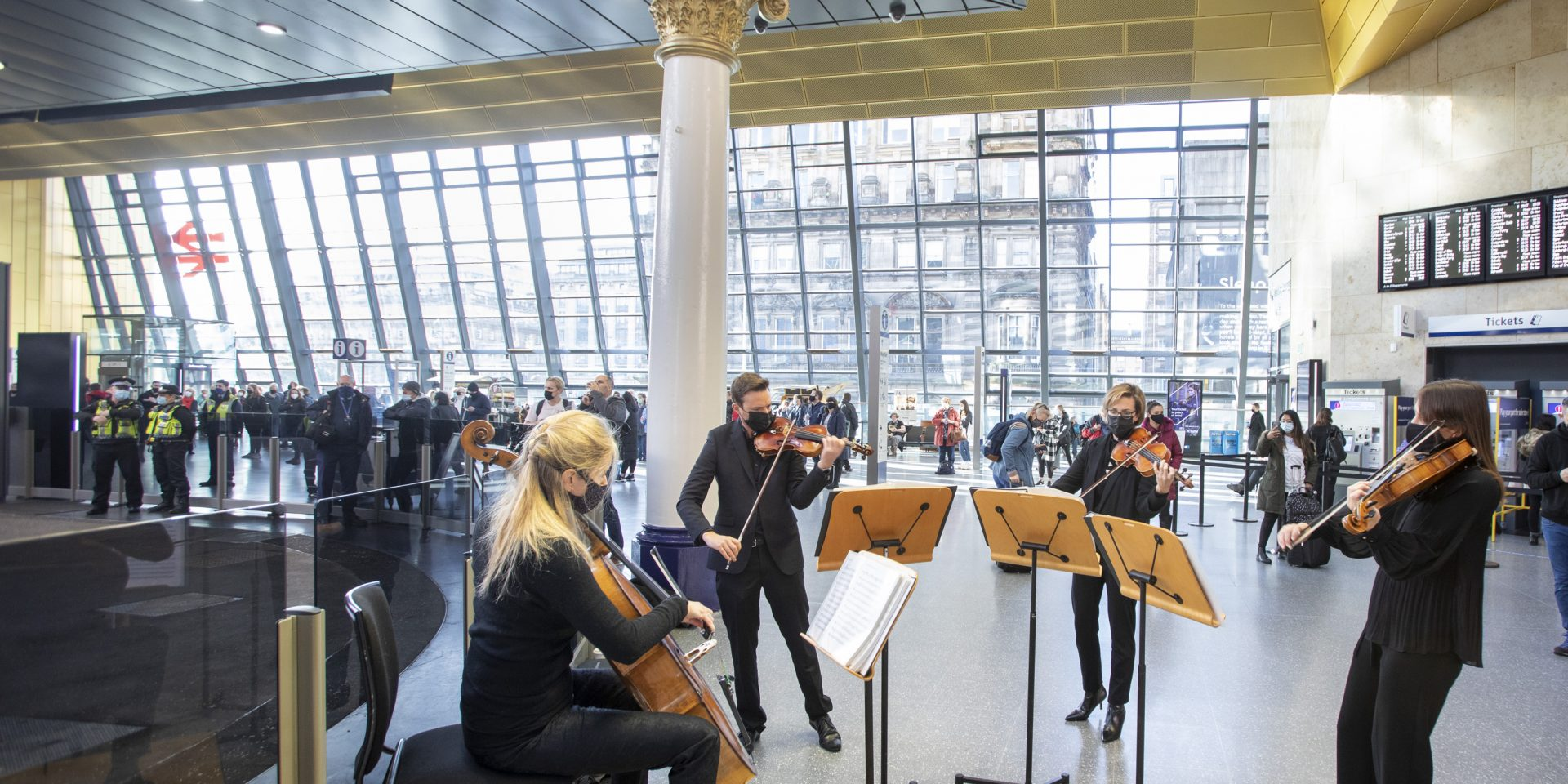 The RSNO celebrates the official opening of Glasgow's new Queen Street Station
